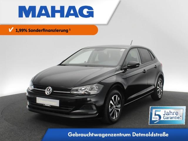 Volkswagen Polo 1.0 TSI IQ.DRIVE Navi ParkLenkAssist Bluetooth BlindSpot 15Zoll 5-Gang, Jahr 2019, Benzin