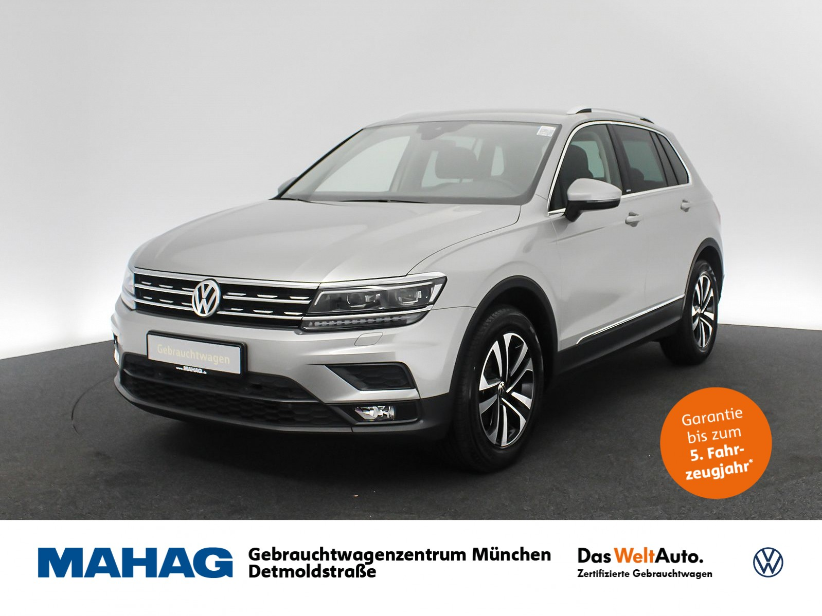 Volkswagen Tiguan 1.5 TSI UNITED Navi LED AHK HUD AppConnect Sitzhz. ParkPilot FahrerAssistPlus 17Zoll DSG, Jahr 2020, Benzin