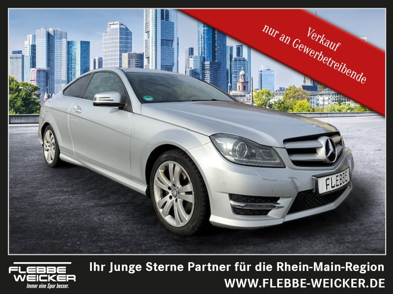Mercedes-Benz C 220 CDI COUPE+AMG+NAVI+ILS+TOTWINKEL+STANDHEIZ, Jahr 2014, Diesel