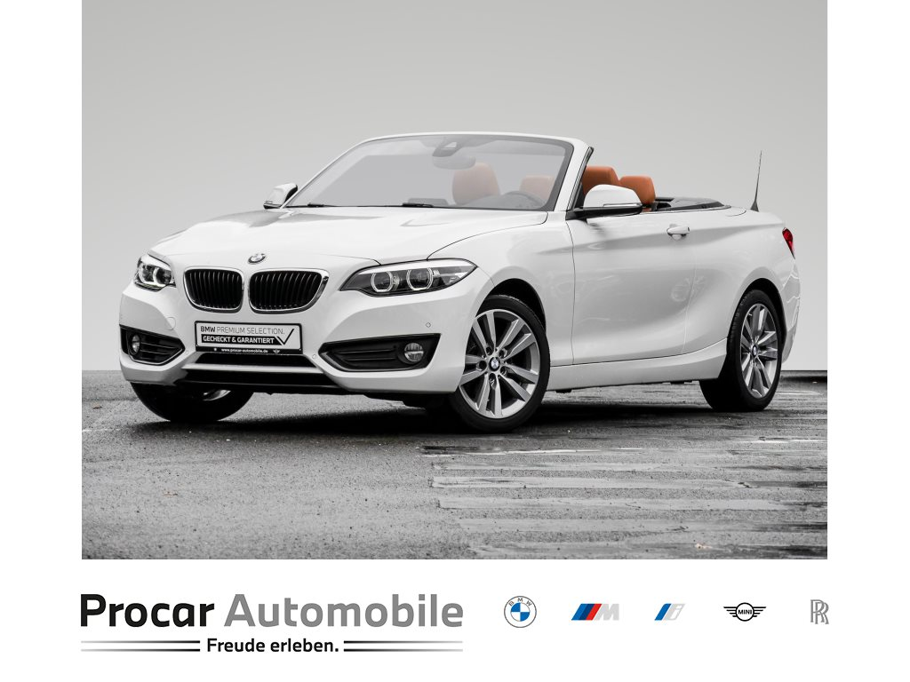 BMW 218i CABRIO++AHK++SITZH++PDC++NAVIGATION++TEMPOMAT+++, Jahr 2018, Benzin