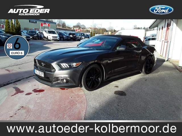 Ford Mustang 5.0 Ti-VCT V8 Convertible GT Sportpaket, Jahr 2016, petrol