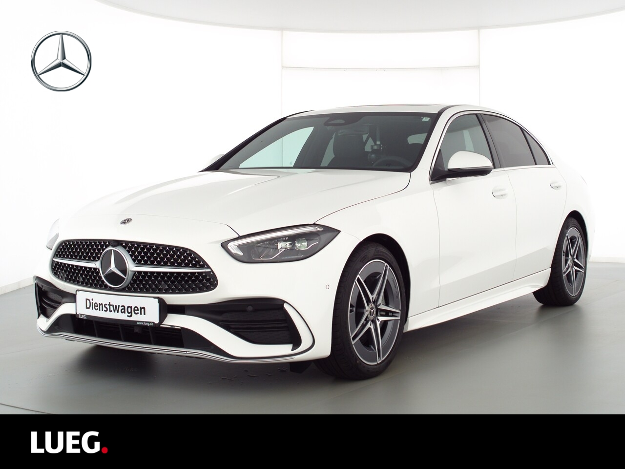 Mercedes-Benz C 200 4M AMG+SHD+TOTW+KAMERA+LED+PTS+DUNKL.GLAS, Jahr 2021, Benzin