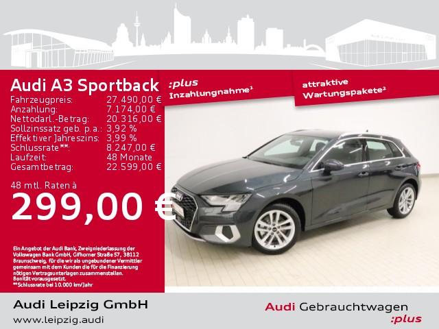 Audi A3 Sportback 30 TFSI advanced *Sitzheizung*, Jahr 2021, Benzin