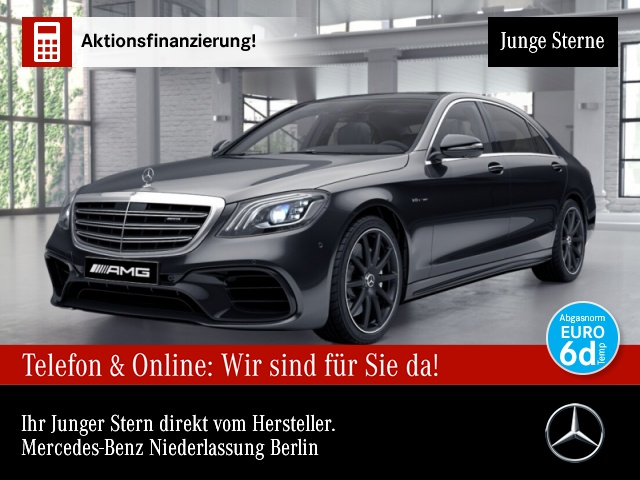 Mercedes-Benz S 63 AMG 4M+ Lang Pano Dievers+Fahrass-Paket, Jahr 2018, Benzin