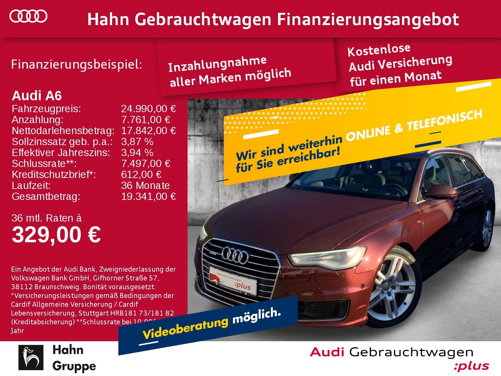 Audi A6 Avant 3.0TDI qua S-trc S-line Navi Xen CAM Sitzh Pano, Jahr 2015, Diesel