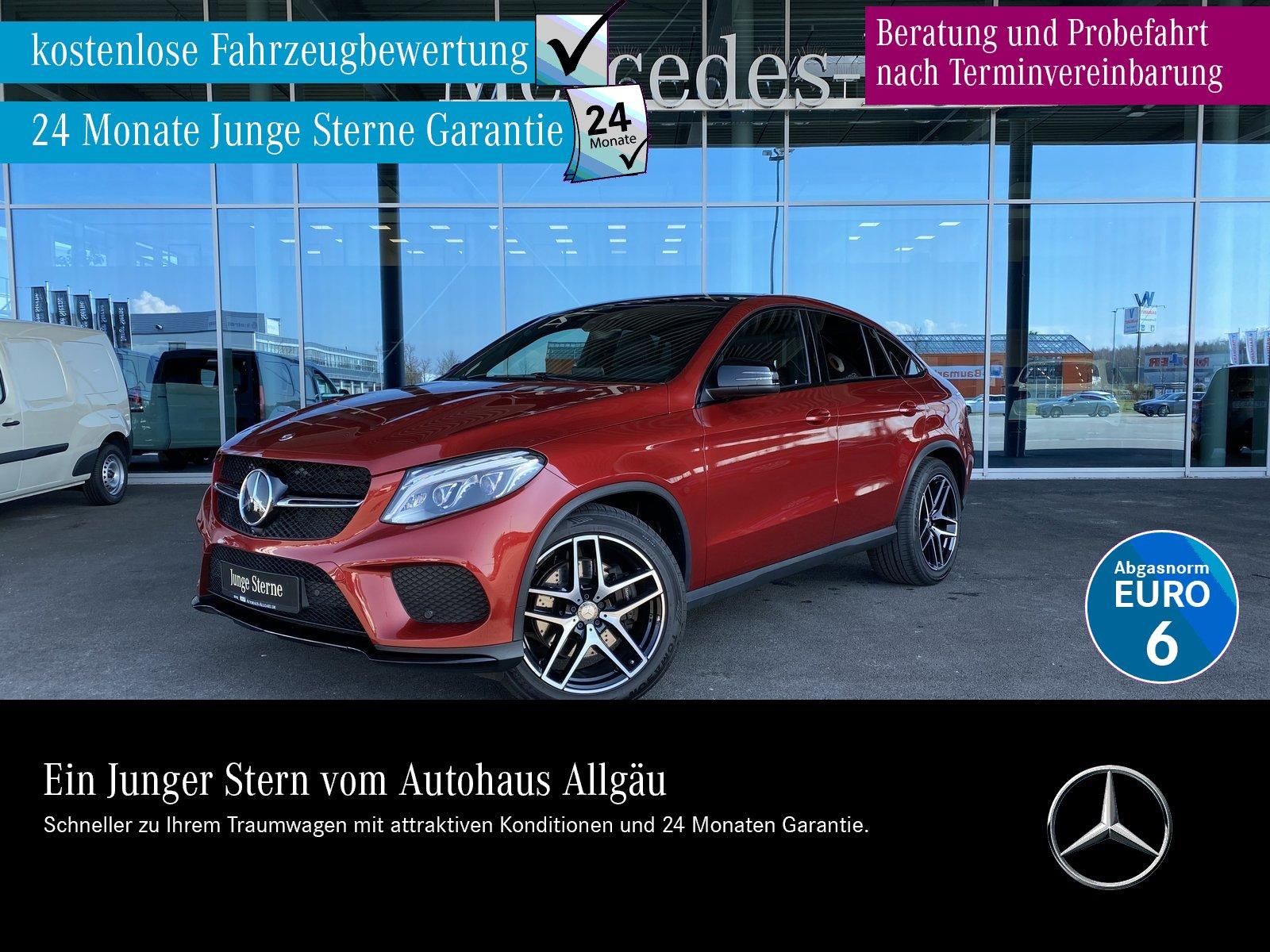 Mercedes-Benz GLE 400 4M Coupe AMG+ILS+AHK+AIRM+360°+PANO+H&K+, Jahr 2016, Benzin