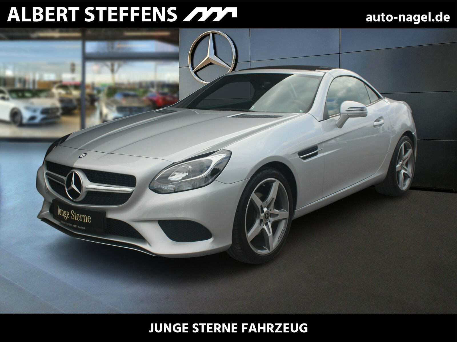 "Mercedes-Benz SLC 180 AMBIENTE+18"" AMG+NAPPA LEDER+DESIGNO, Jahr 2017, petrol"