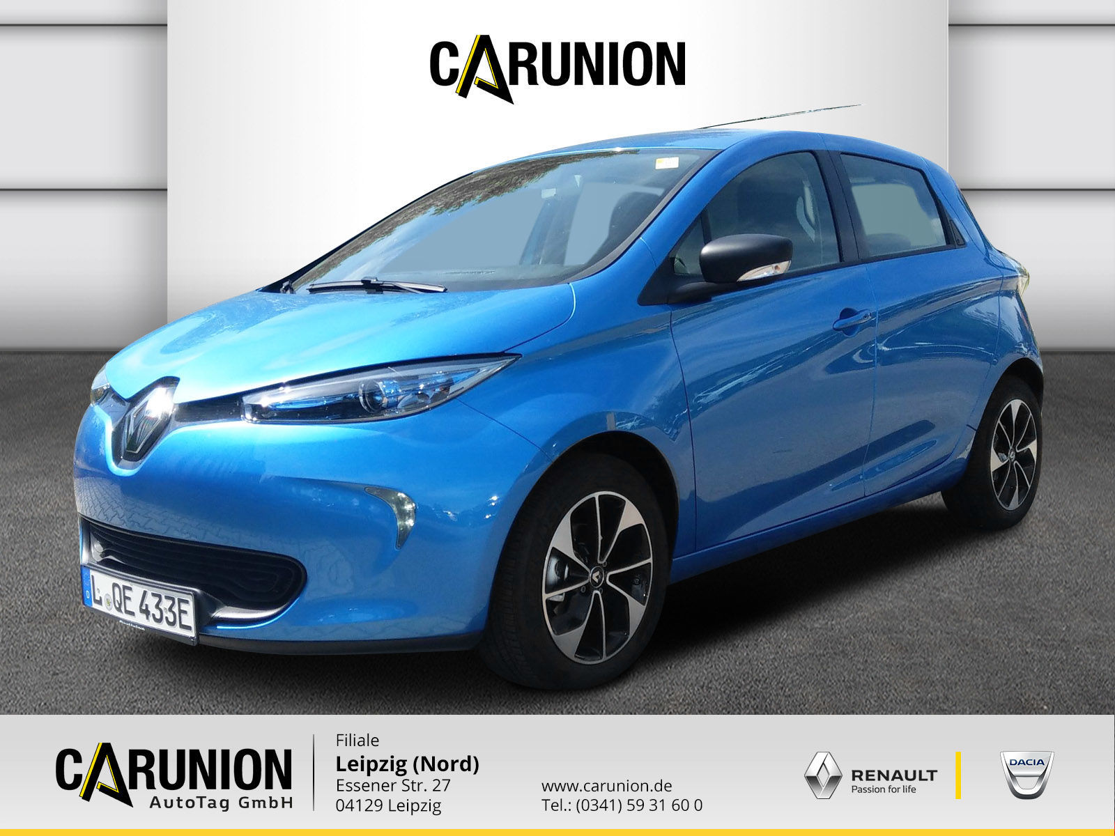 Renault ZOE LIFE Z.E. 40 90 Batteriemiete Klima,Navi, Jahr 2019, Elektro