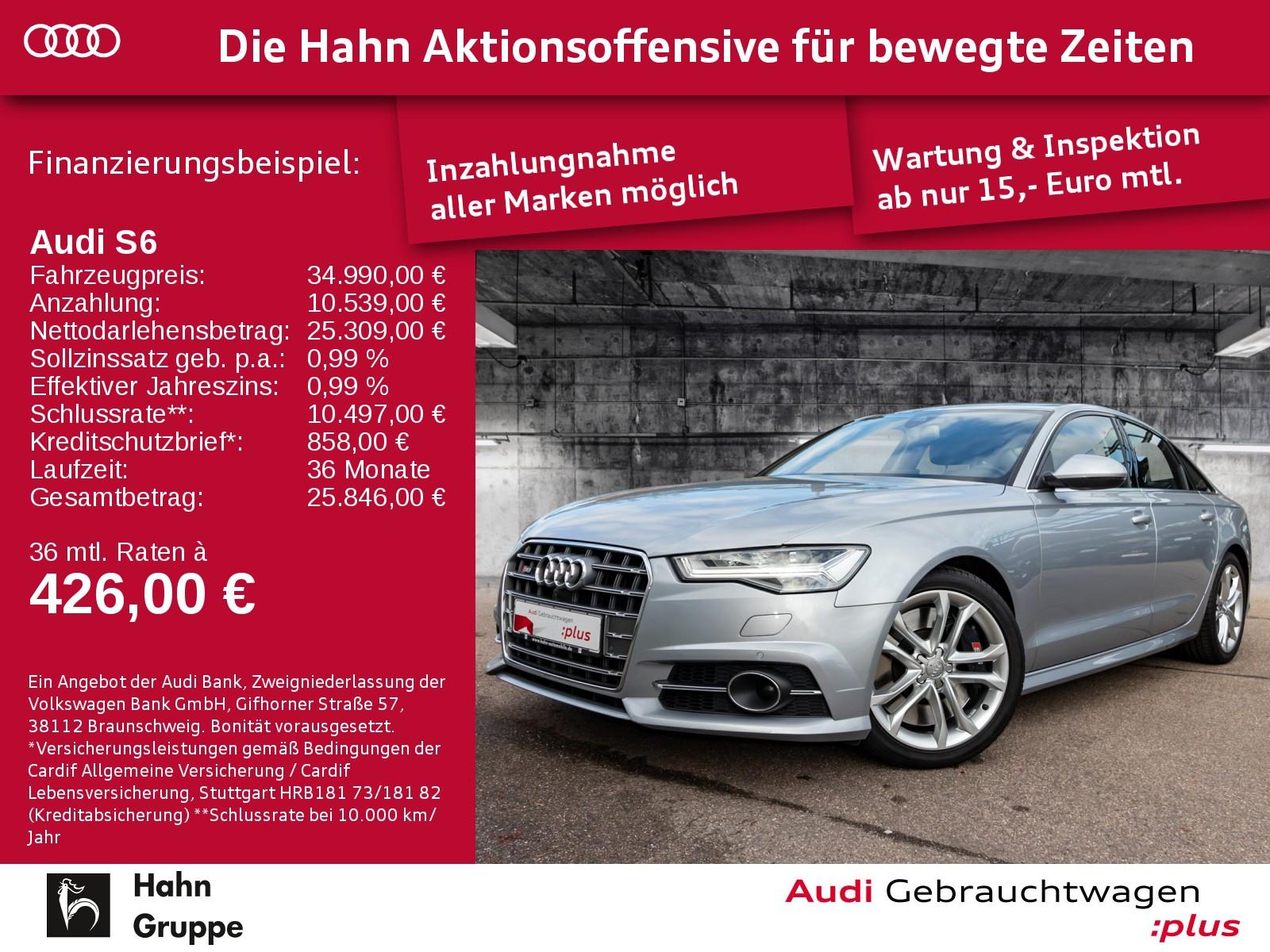 Audi S6 Lim 4.0TFSI qua ACC BOSE Navi LED Luft, Jahr 2017, Benzin