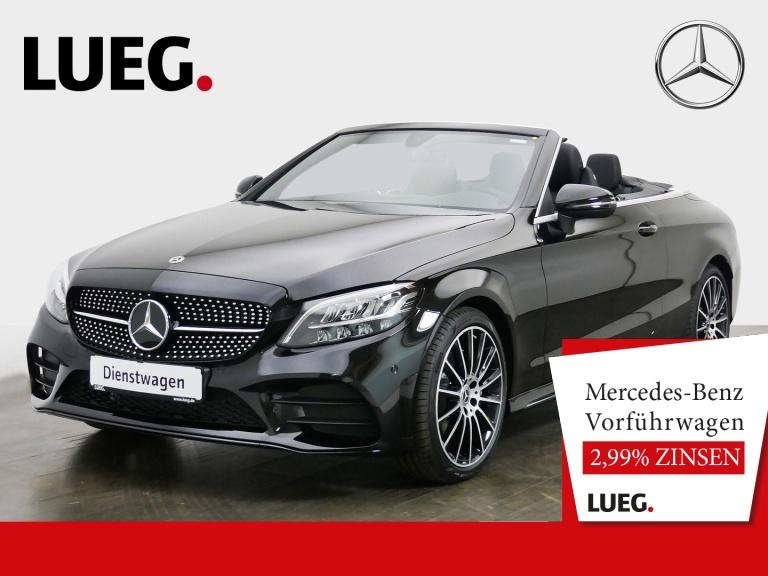 Mercedes-Benz C 180 Cabrio AMG+NIGHT+19''+AKUST-VERD+AMB-BEL, Jahr 2020, Benzin