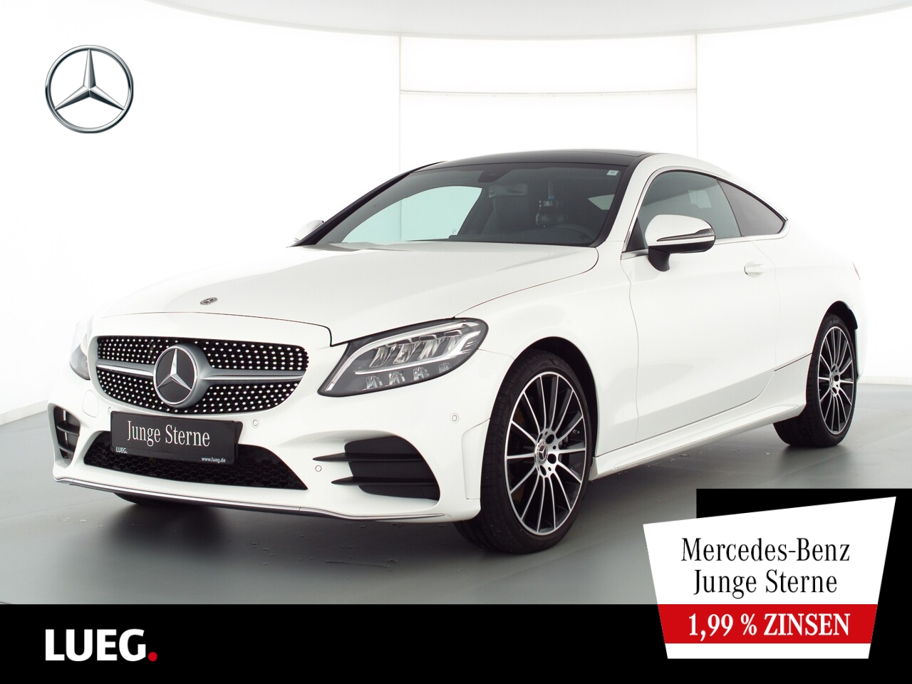 Mercedes-Benz C 180 Coupé AMG+Navi+Pano+LED-HP+19''+ParkAss+RF, Jahr 2019, Benzin