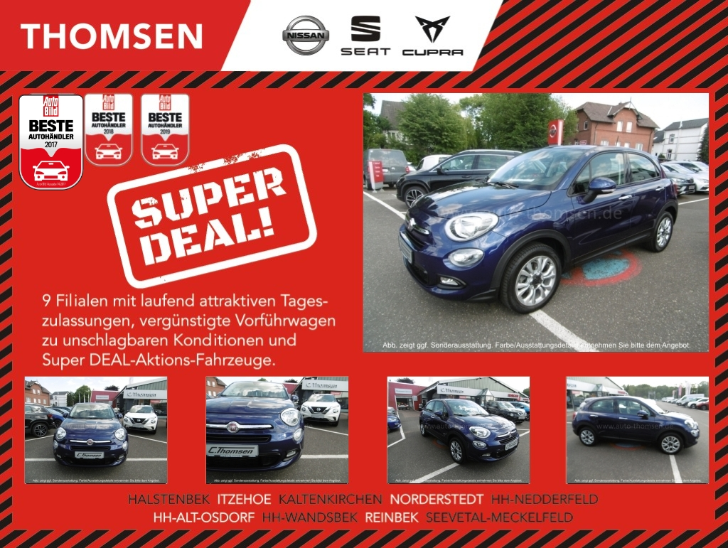 Fiat 500X CITY LOOK 1.4 Keyless Spurh. Kurvenl., Jahr 2015, Benzin