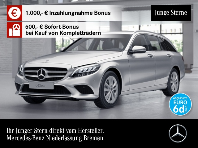 Mercedes-Benz C 180 T Avantgarde LED AHK Kamera Spurhalt-Ass PTS, Jahr 2019, Benzin