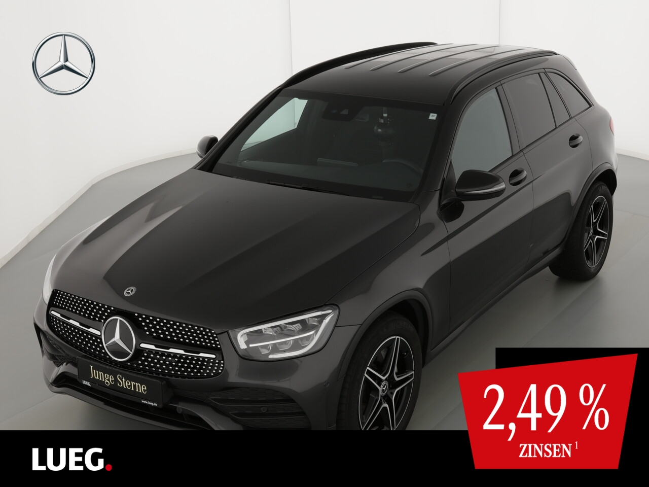 Mercedes-Benz GLC 200 4M AMG+MBUX+Navi+LED-HP+SpurP+NightP+RFK, Jahr 2019, Benzin