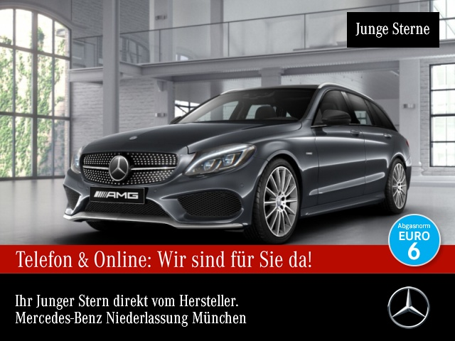 Mercedes-Benz C 450 AMG T 4M Pano ILS Distr Burmester 19''HUD, Jahr 2016, Benzin