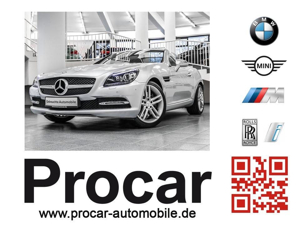 Mercedes-Benz SLK 200 Aut Sportpaket Panoramadach Navi PDC, Jahr 2015, petrol