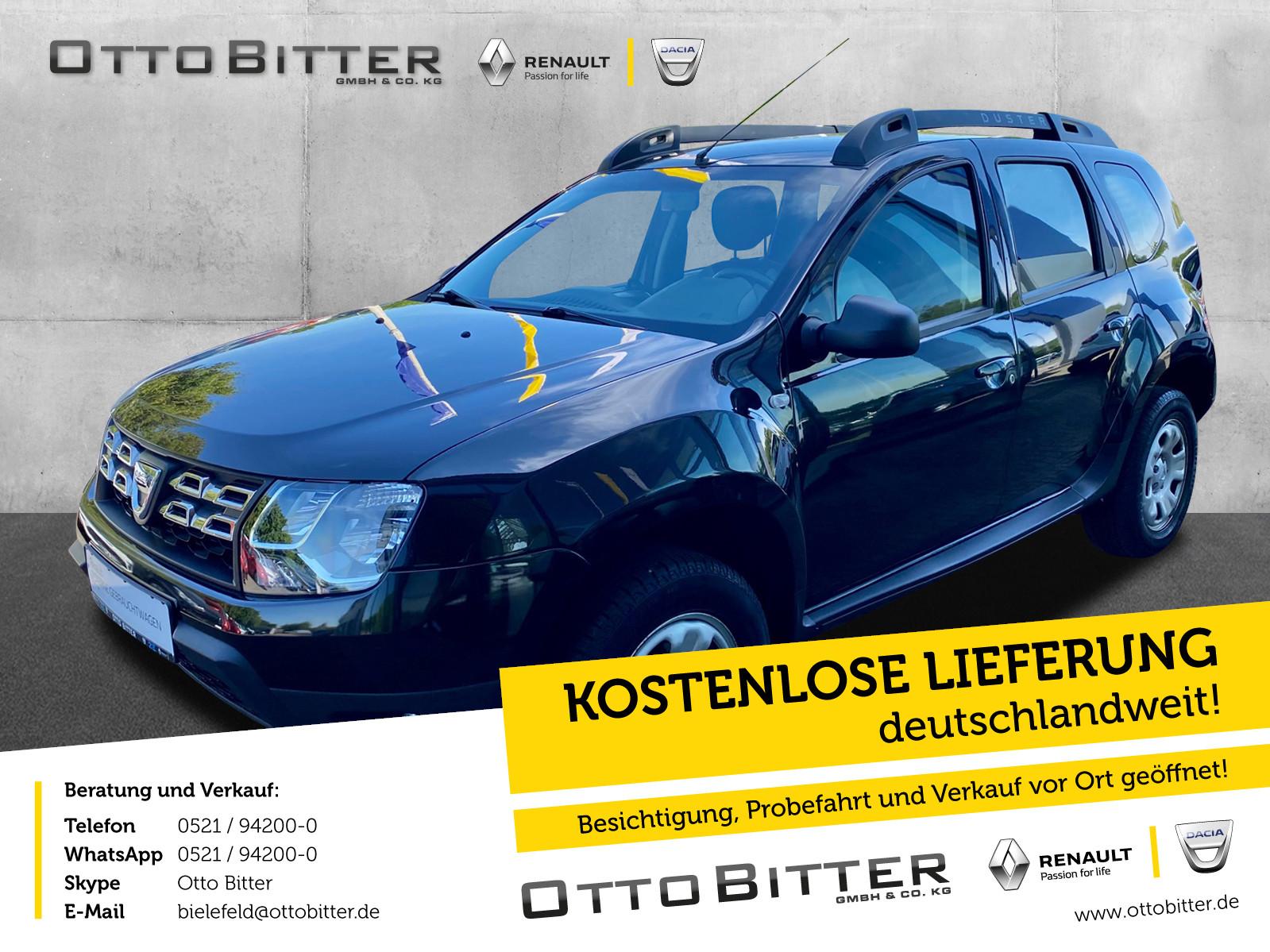 Dacia Duster Ambiance SCe115 KLIMA/ANHÄNGERKUPPLUNG, Jahr 2016, Benzin