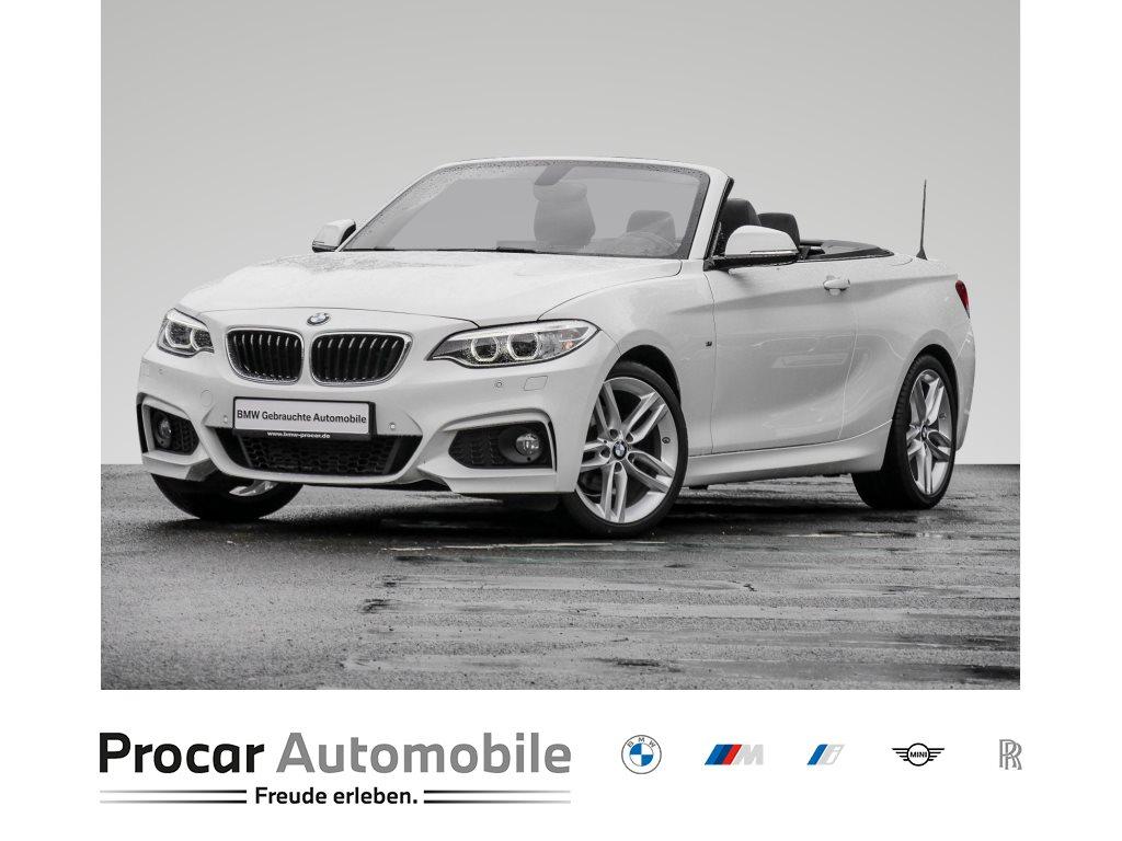 BMW 218i CABRIO+MSPORT+HIFI+XENON+NAVI BUSI.+PDC+OPEN AIR, Jahr 2016, Benzin