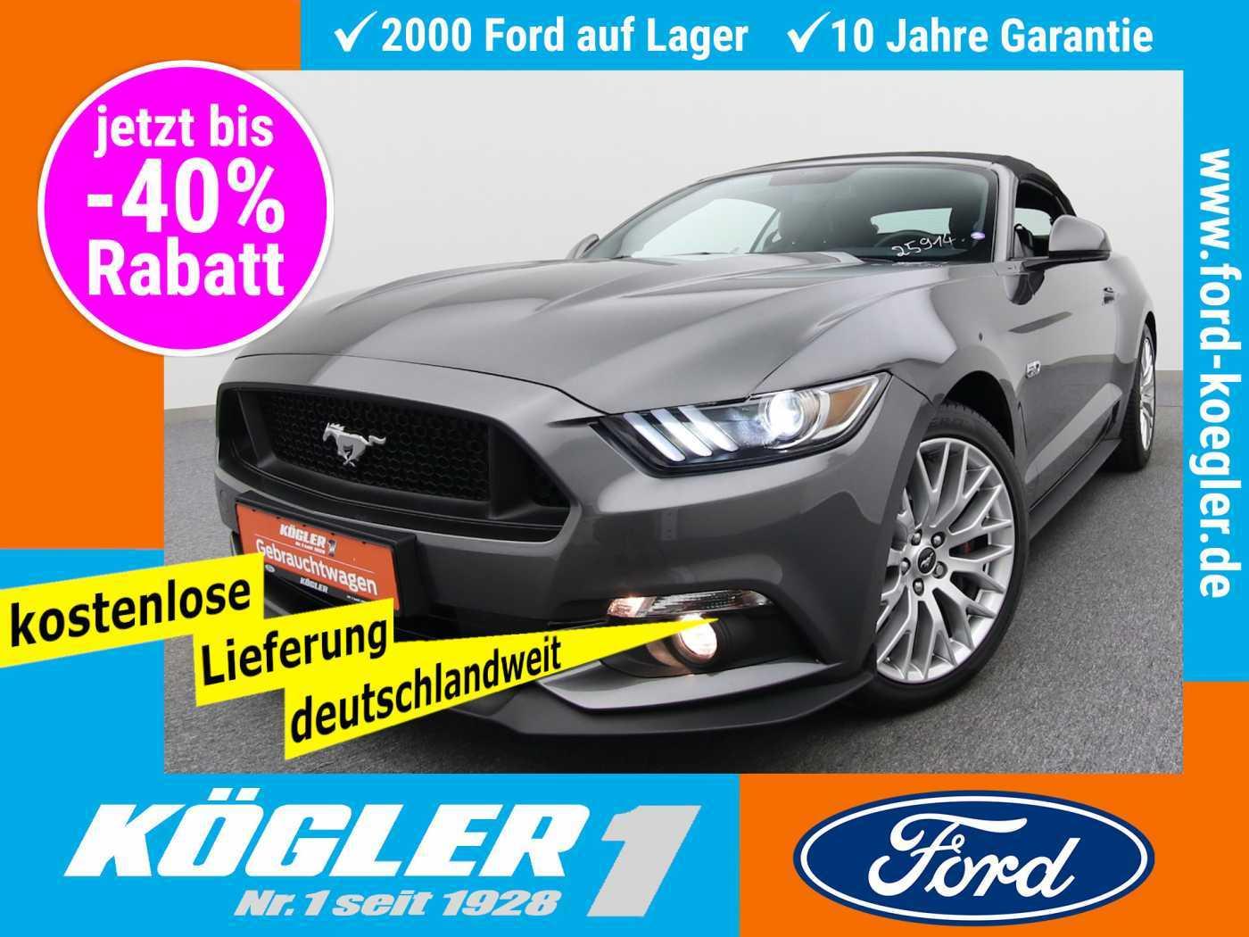 Ford Mustang Cabrio 5.0 GT V8 Aut./Premium-Paket, Jahr 2017, Benzin
