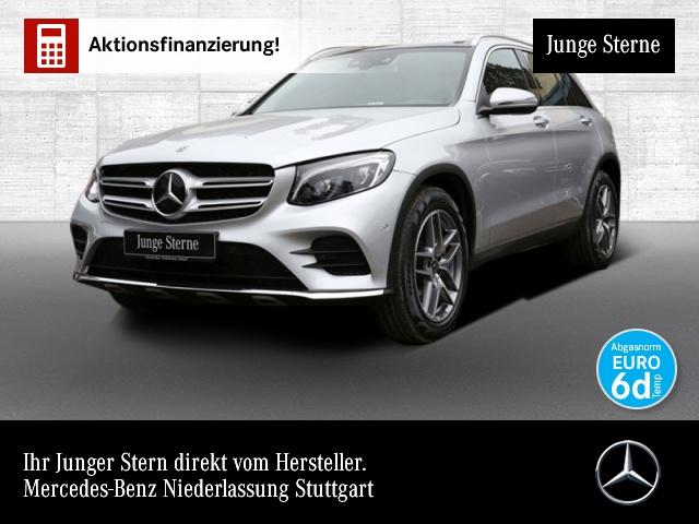 Mercedes-Benz GLC 300 4M AMG Fahrass Pano Burmester Distr. AHK, Jahr 2018, petrol