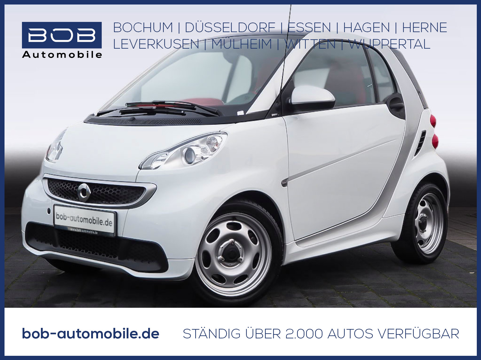 smart ForTwo coupe edition whiteshade Klima+Panorama, Jahr 2014, Benzin