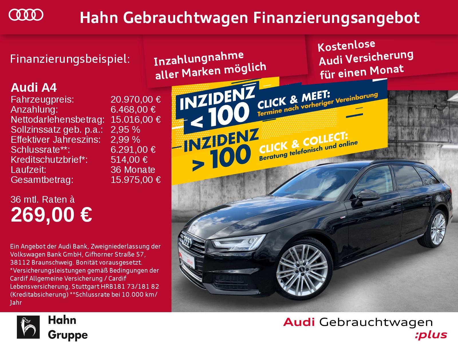Audi A4 Avant Sport 1.4TFSI S-trc S-line Navi LED Sitzh, Jahr 2017, Benzin