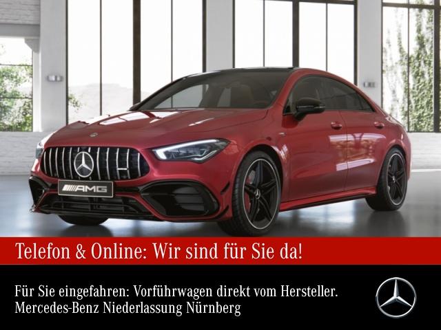 Mercedes-Benz CLA 45 S 4MATIC Coupé Sportpaket Navi LED Klima, Jahr 2020, Benzin