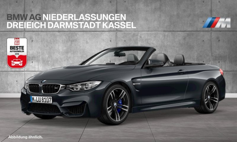 BMW M4 Cabrio Head-Up HK HiFi M DKG LED Spurwarng., Jahr 2016, Benzin