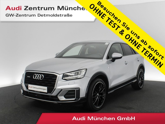 "Audi Q2 2.0 TDI qu. Sport S line B&O Virtual Standhz. LED Navi Leder 19"" PDCplus S tronic, Jahr 2018, diesel"