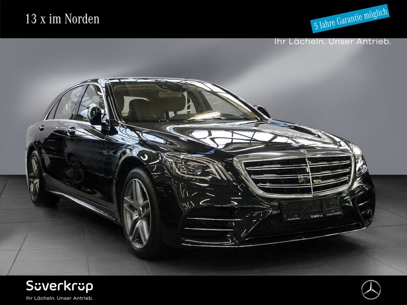 Mercedes-Benz S 450 4M L AMG+SHZ+PANO+ BURMESTER+ >>ORT KIEL<<, Jahr 2019, Benzin