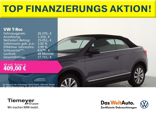 Volkswagen T-Roc Cabriolet 1.0 TSI Style AHK AppConnect Climatronic, Jahr 2020, Benzin