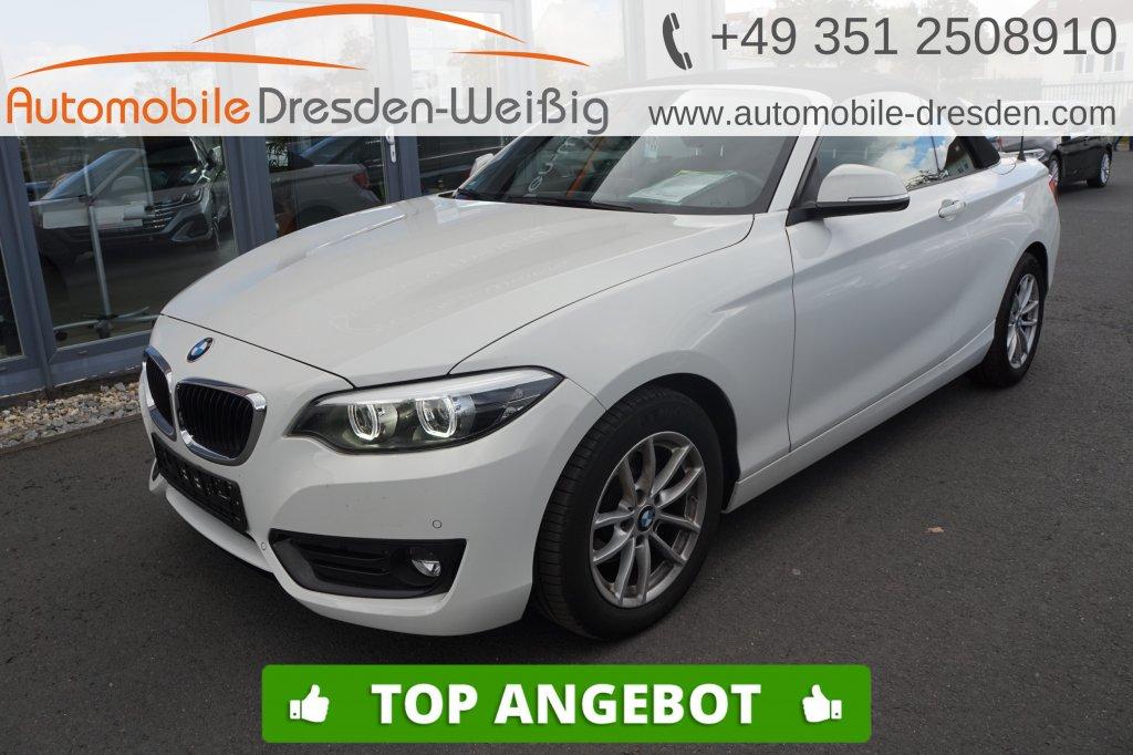 BMW 218 i Cabrio Advantage*Navi*HiFi*LED*PDC*, Jahr 2018, Benzin
