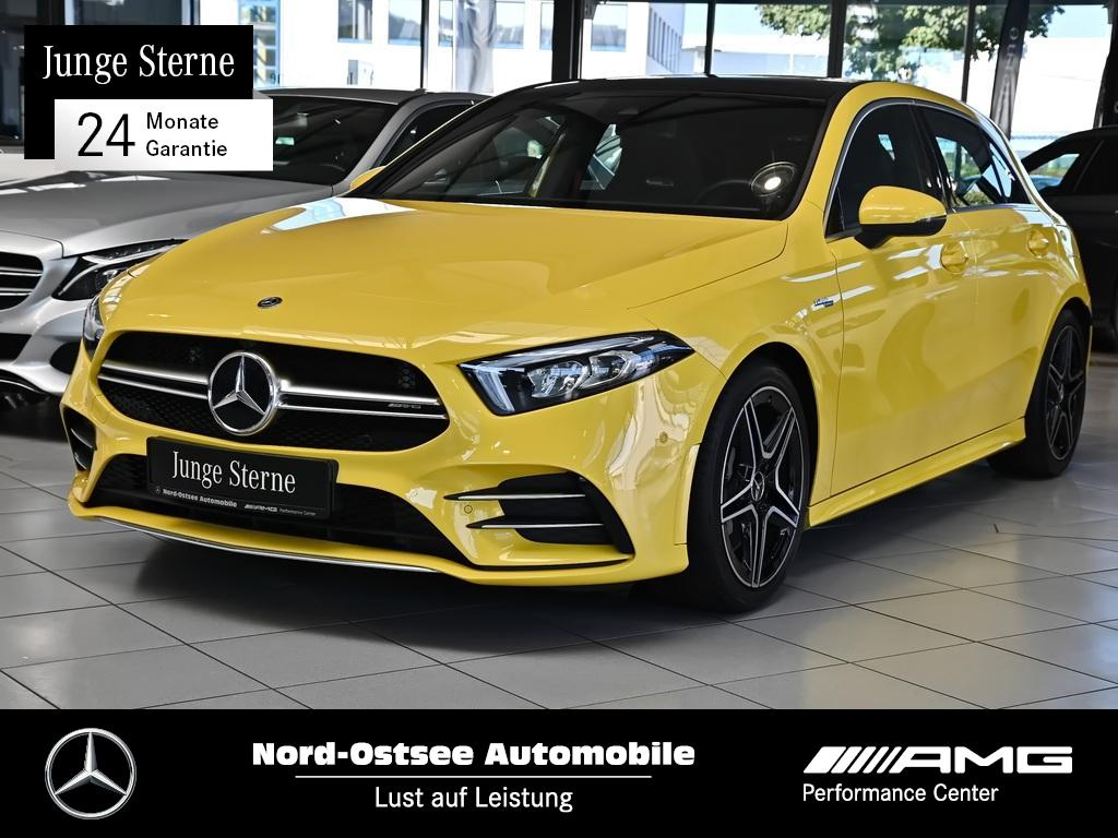 Mercedes-Benz A 35 AMG 4M Pano Navi MBUX Kamera Klima LED 7G, Jahr 2020, Benzin