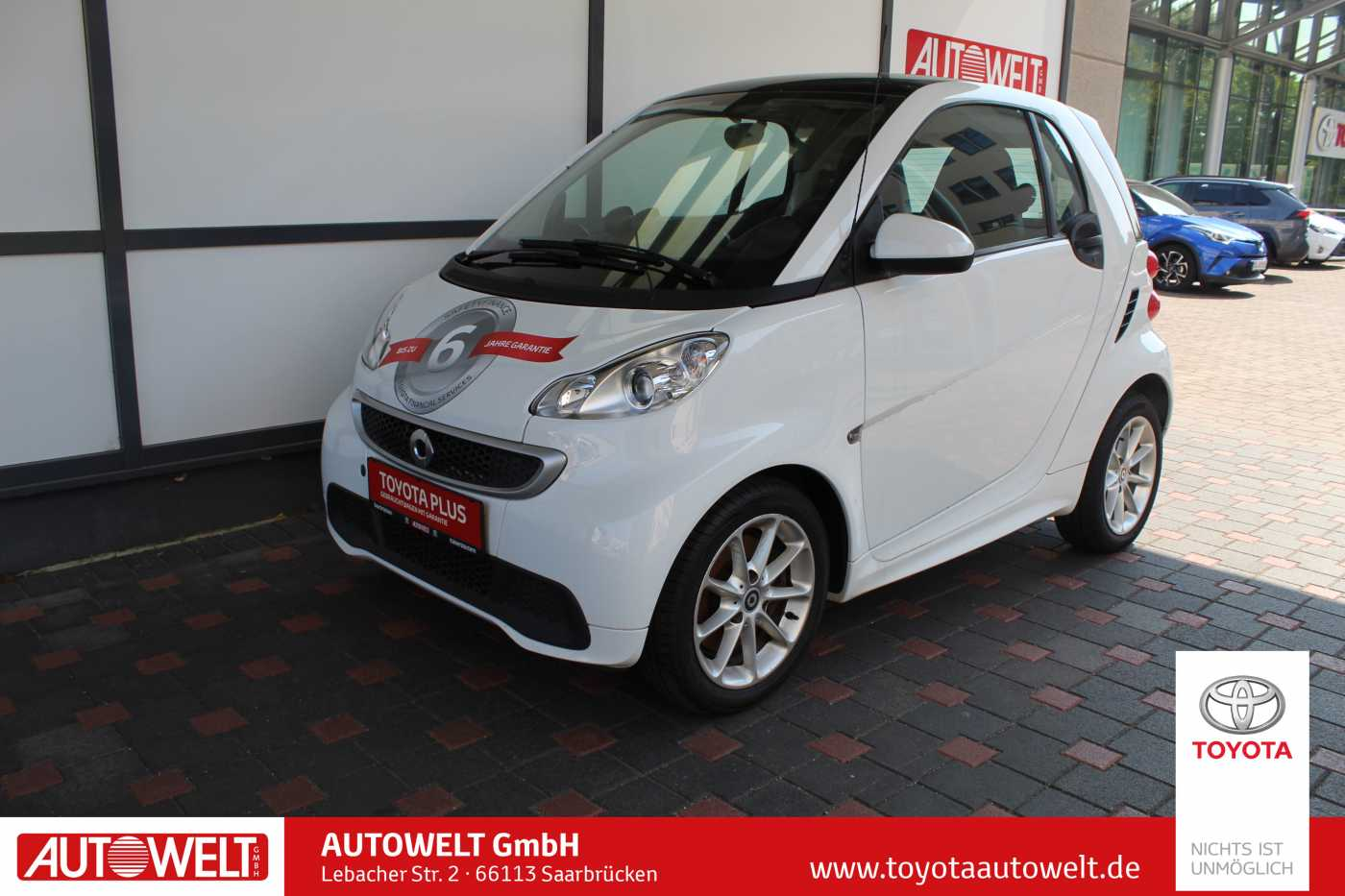 smart fortwo coupe softouch passion Klima, Jahr 2014, petrol