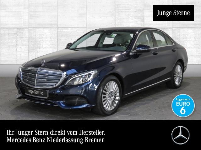 Mercedes-Benz C 300 Exclusive Airmat ILS LED SHD Navi PTS Sitzh, Jahr 2016, petrol