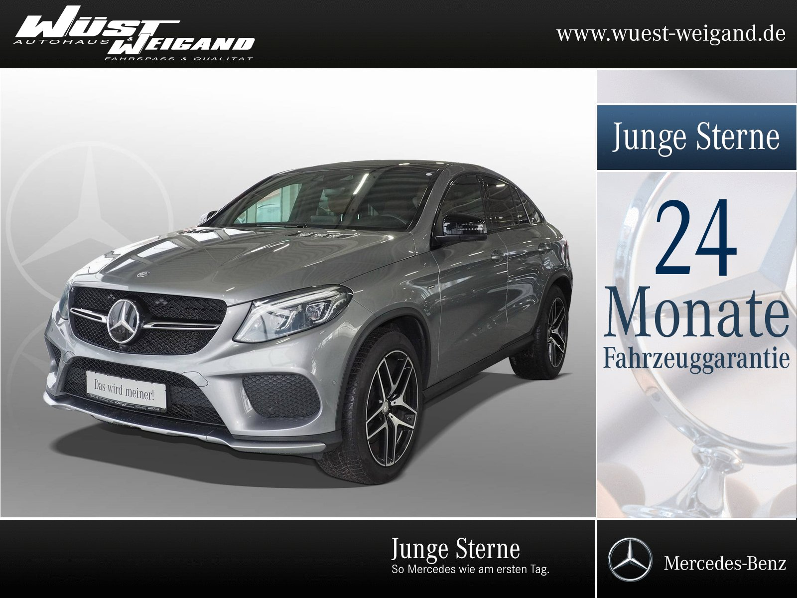 Mercedes-Benz GLE 450 AMG 4MATIC Coupé Standh.+Distronic+Fond., Jahr 2016, Benzin
