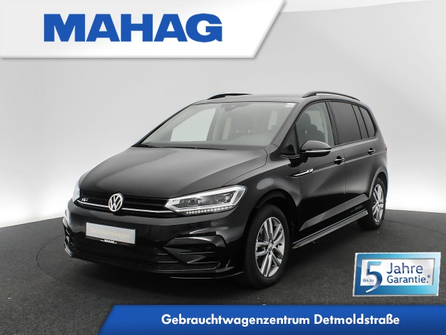 Volkswagen Touran 2.0 TDI R line Ext. BlackStyle Highline Navi 7-Sitzer Kamera LED AHK DAB+ AppConnect FrontAssist LightAssist 17Zoll DSG, Jahr 2020, Diesel