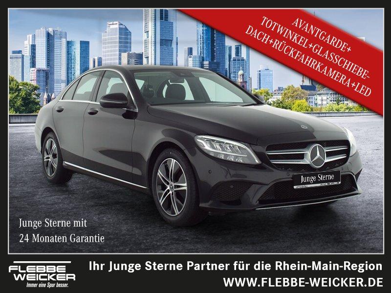 Mercedes-Benz C 180 AVANTGARDE+TOTWINKEL+GSHD+R.-KAMERA+LED+++, Jahr 2020, Benzin
