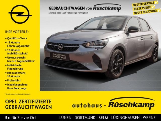 Opel Corsa F Edition 1.2 Multif.Lenkrad Klima SHZ USB MP3 ESP MAL Regensensor Seitenairb., Jahr 2020, Benzin
