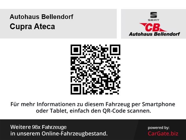 CUPRA Ateca 2.0TSI 4Drive EU6d-T LED Keyless AD Parklenkass. Rückfahrkam. Allrad Fernlichtass., Jahr 2018, Benzin