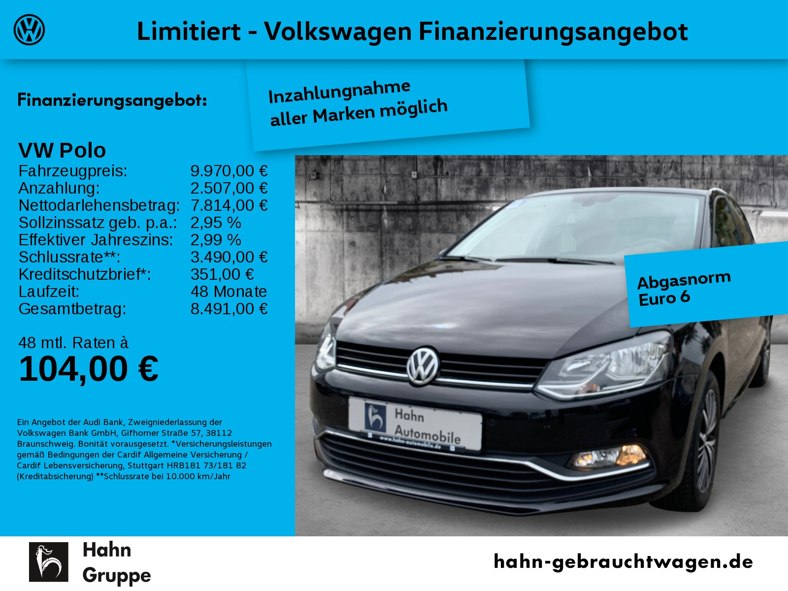 Volkswagen Polo 1.0 Allstar Climatr Sitzh Radio el.Fenster, Jahr 2016, Benzin