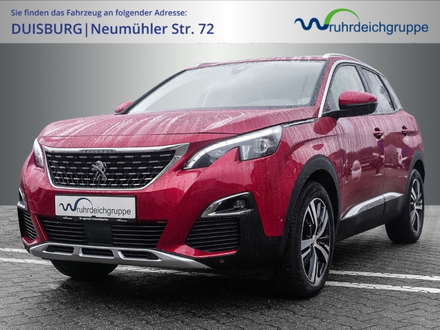 Peugeot 3008 Allure 1.2 PureTech 130 EU6d-T Leder LED Navi Keyless Kurvenlicht Rückfahrkam., Jahr 2019, Benzin