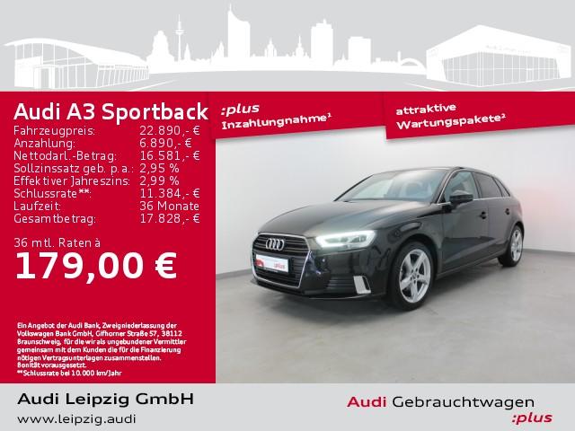 Audi A3 Sportback 30 TFSI sport S-tronic *LED*Navi*, Jahr 2019, Benzin