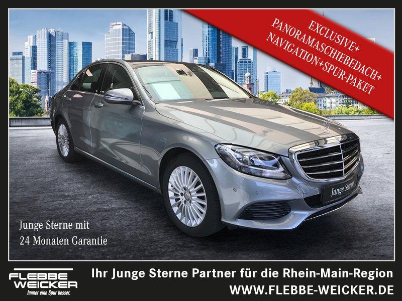 Mercedes-Benz C 220 d+EXCLUSIVE+PANO-SCHIEBED.+NAVI+SPUR-PA.+, Jahr 2015, Diesel