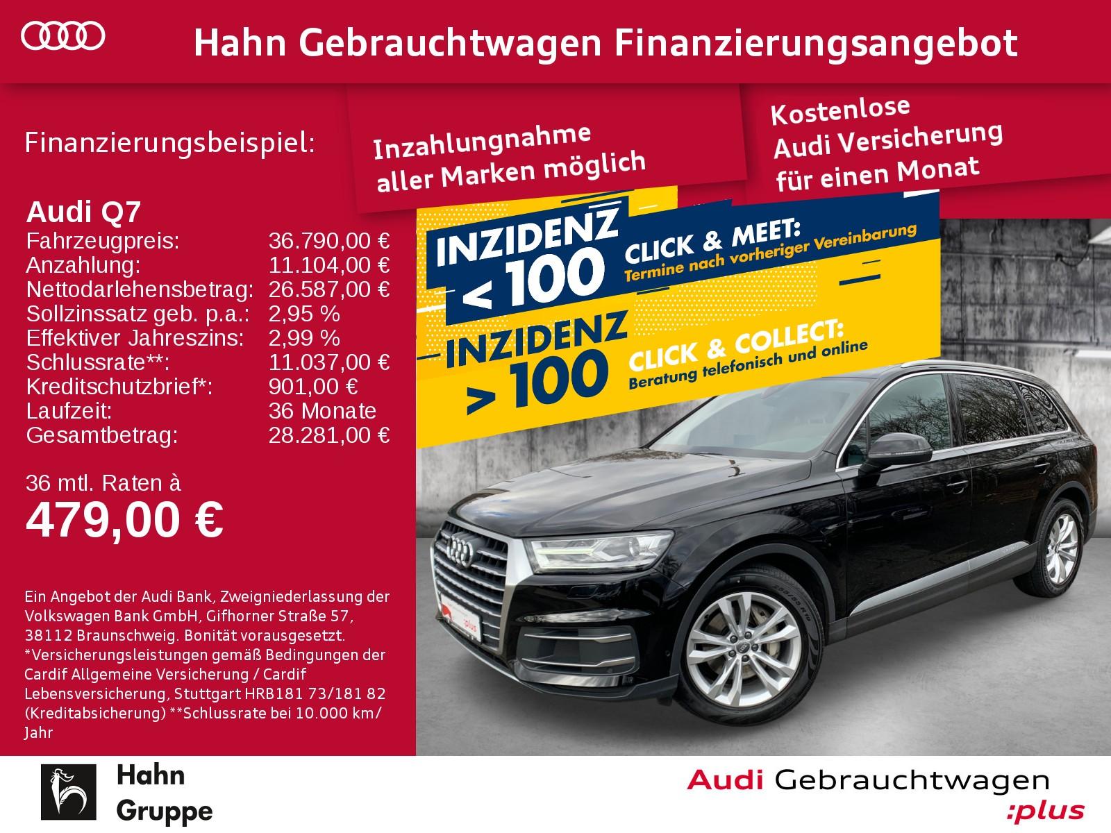 Audi Q7 3.0TDI qua. Navi Xen AHK CAM Sitzh EInpark, Jahr 2017, Diesel