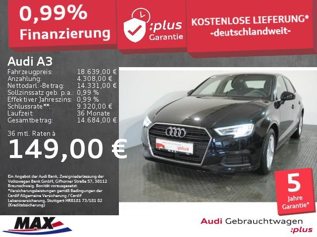 Audi A3 Limousine 1.6 TDI 5JGAR+XENON+NAVI+ALU+SITZHZ, Jahr 2020, Diesel