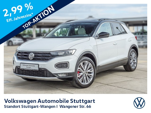 Volkswagen T-Roc Sport 2.0 TSI DSG Navi LED P-Dach AID AHK, Jahr 2019, Benzin