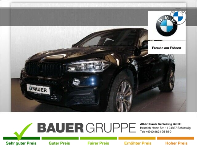 BMW X6 xDrive 30d M-Sportpaket Leder LED Navi StandHZG Keyless AD Kurvenlicht e-Sitze HUD ACC, Jahr 2014, Diesel
