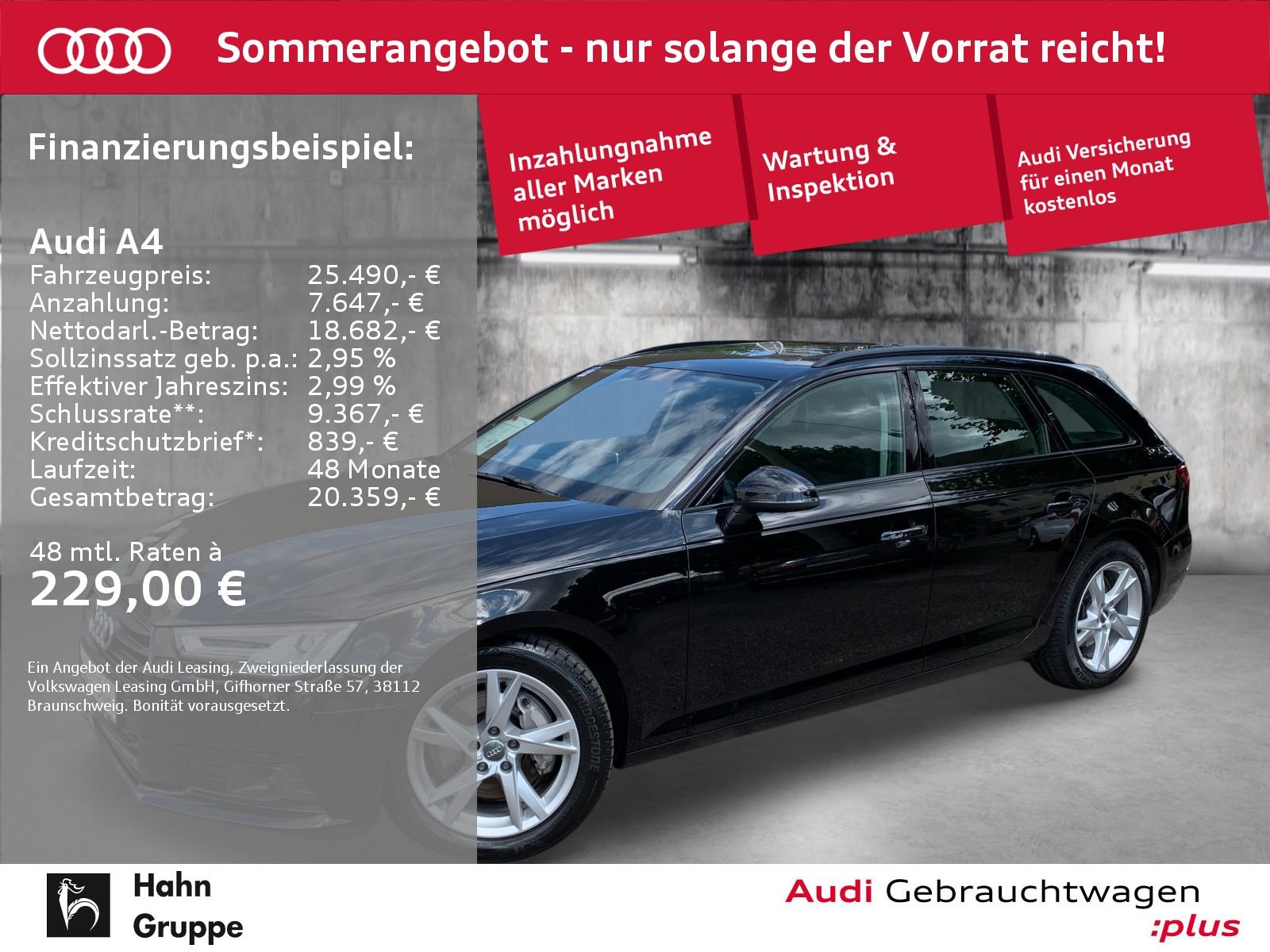 Audi A4 Avant 2.0TDI Sport S-trc Navi LED CAM ACC Pano, Jahr 2018, Diesel