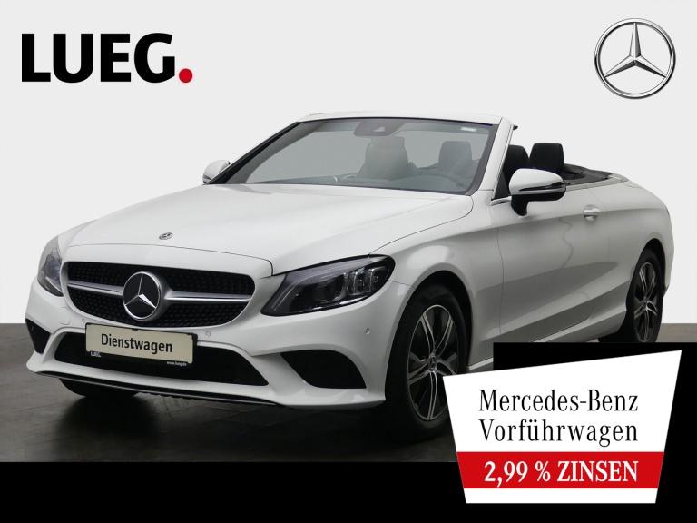 Mercedes-Benz C 180 Cabrio MULTIBEAM+SP-P.+CAB-KOMF-P.+PARK-P., Jahr 2020, Benzin